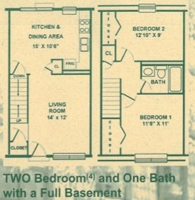 Independence Square - 2 Bedroom Floorplan